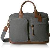 Fossil Men's Defender Waxed Canvas Double Zip Workbag