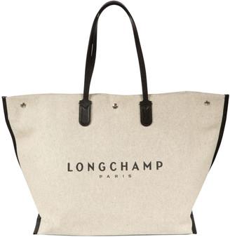 Longchamp Logo Print Tote