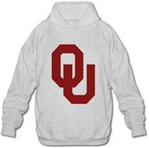 Yisw Hoodies Sweatshirts University Of Oklahoma Sooners Logo Long Sleeves Men's Hoodies Sweatshirt Size L By Yisw