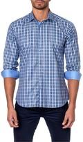 Jared Lang Checked Long Sleeve Trim Fit Shirt