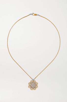 Buccellati Rombi 18-karat Yellow And White Gold Diamond Necklace
