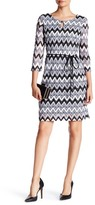 Sandra Darren Key Knit Chevron Dress (Petite)