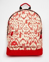 Mi-Pac Backpack In Red Ikat Print