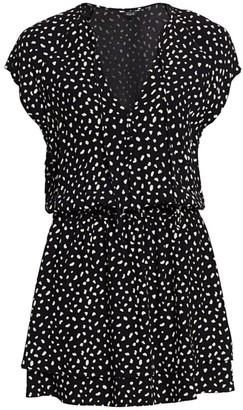 Rails Karla Spot Flounce Mini Dress