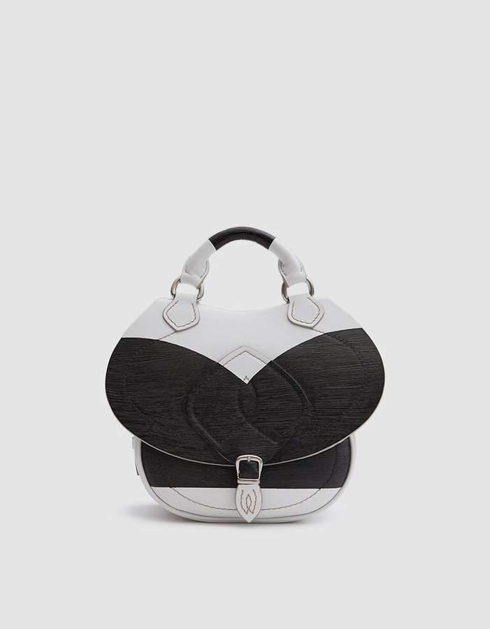 Maison Margiela Small Shoulder Bag in White/Black