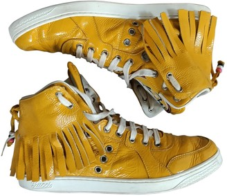 Gucci Yellow Patent leather Trainers