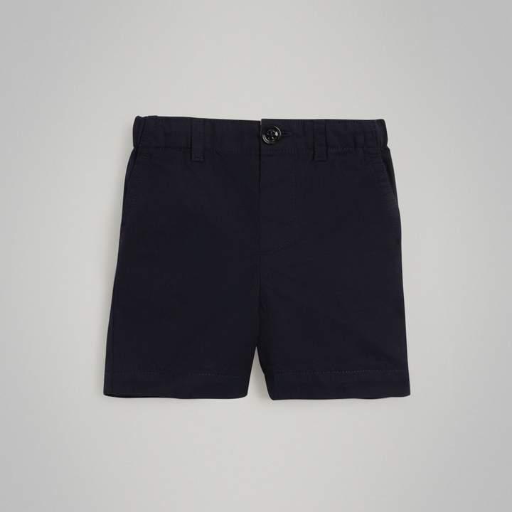 Burberry Childrens Cotton Twill Shorts
