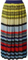 Missoni Striped Crochet-knit Midi Skirt - Blue
