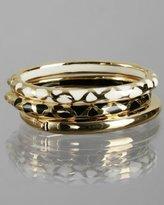 set of 3 - animal print and gold bangles
