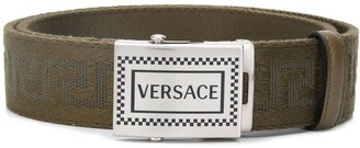 Versace buckle Greca pattern belt
