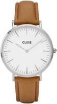 Cluse La Boheme 38MM Watch in Silver & Caramel