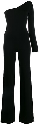 Philipp Plein One Shoulder Knit Jumpsuit