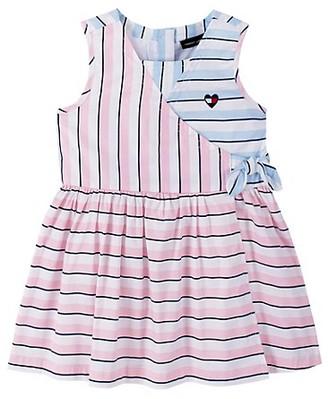 Tommy Hilfiger Little Girl's Striped Wrap Dress