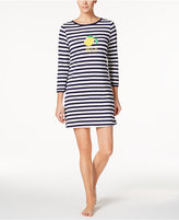 Kate Spade Graphic-Print Striped Knit Sleepshirt