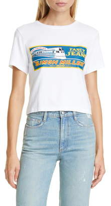 Simon Miller Rondo Train Print Crop Tee