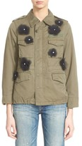Women's Tu Es Mon Tresor Tulle Flower Military Jacket