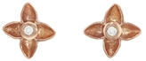 Megan Thorne Veil Floral Diamond Stud Earrings - Rose Gold