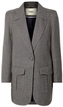 Fendi Oversized Checked Wool-blend Jacket