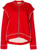 Marni overlocked zipped sweater - women - Cotton/Polyamide - 38