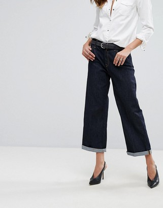 Replay Basinkim Turn Up Wide Leg Jean