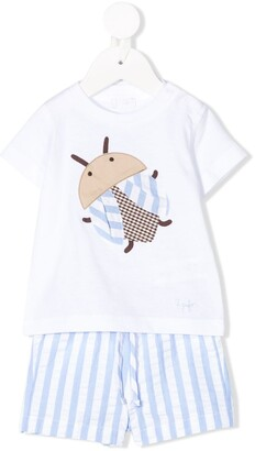 Il Gufo lady bug T-shirt set