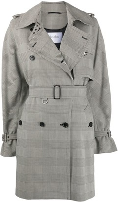 Max Mara Double Breasted Check Trench Coat