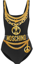Moschino Printed Swimsuit - Black
