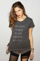 Local Celebrity Girlfriend Material Schiffer Tee in Black