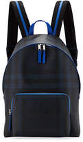 Burberry Abbeydale London Check Backpack, Navy