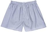 Sunspel Fine Stripe Woven Cotton Boxers, Navy