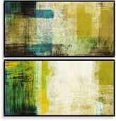 Bed Bath & Beyond Green Abstract Wall Décor (Set of 2)