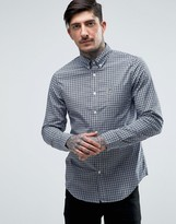 Lacoste Shirt With Small Check In Blue Slim Fit