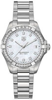 Tag Heuer Ladies Aquaracer Stainless Steel and Diamond Bracelet Watch WAY1314BA091