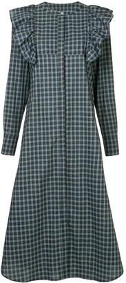 macgraw Signal ruffle plaid dress