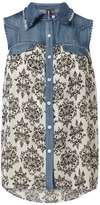 Izabel London **Izabel London Multi Contrast Denim Top
