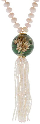 Silvia Furmanovich 18kt yellow gold opal Lotus Marquetry necklace