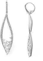 Nadri Calla Short Leverback Earrings