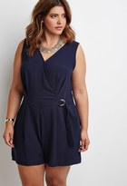Forever 21 Plus Size Belted Surplice Romper