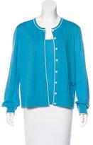 Rena Lange Bicolor Cashmere Cardigan Set