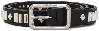 Just Cavalli Studded Leather Belt