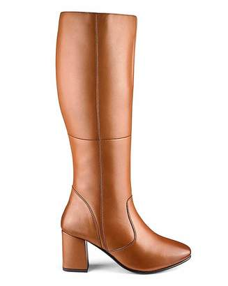 Jd Williams Leather Boots E Fit Ex Curvy Plus Calf