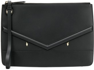 Fendi Zipped Applique Clutch Bag