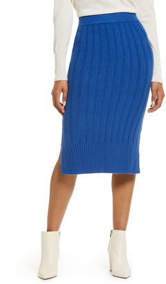 Halogen Ribbed Sweater Skirt
