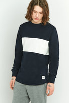 Wemoto Tye Navy And White Chest Panel Long-sleeve Shirt