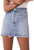 A Gold E Agolde Quinn Hi Rise Mini Skirt