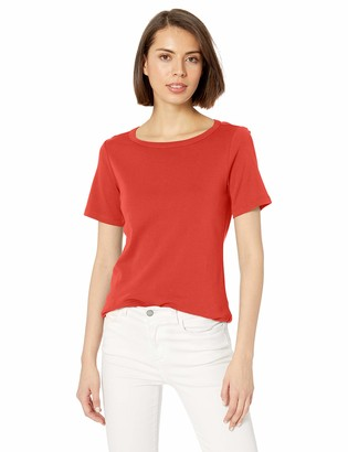 Pendleton Women's Short Sleeve Cotton Rib Crew Tee