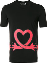 Love Moschino love heart print T-shirt - men - Cotton/Spandex/Elastane - S