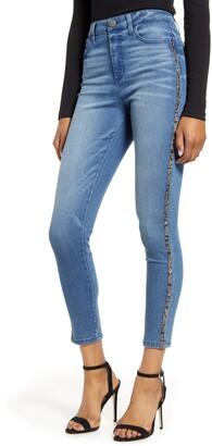 Tinsel Snake Side Stripe Skinny Jeans