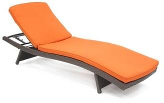 Charlton Homeâ® Indoor/Outdoor Chaise Lounge Cushion Charlton HomeA Color: Orange