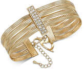 Thalia Sodi Gold-Tone Pave Bar Multi-Row Flex Bracelet, Created for Macy's